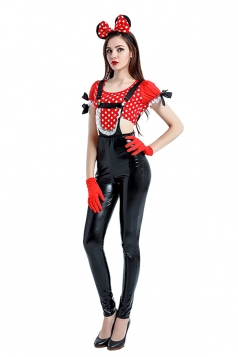 Women Minnie Mouse Costume Halloween Costume Black