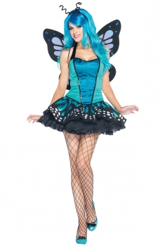 Women's Sexy Swallowtail Butterfly Costume Blue