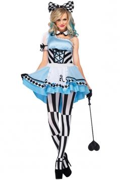 Women Alice In Wonderland Halloween Costume Blue