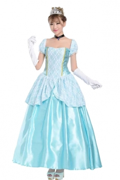Women Princess Dress Cinderella Halloween Costumes Blue