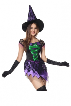 Womens Halloween Ballerina Witch Costume Pink
