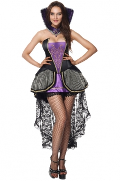 Womens Sexy Evil Queen Halloween Costume Purple
