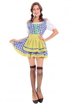 Womens Halloween Bavaria Oktoberfest Beer Girl Costume Black