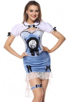 Womens Sexy Alice In Wonderland Halloween Costume Blue