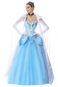 Halloween Frozen Elsa Dress Costume Blue