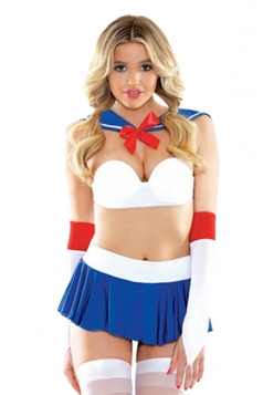 Womens Sexy Anime Sailor Moon Cosplay Costume Blue