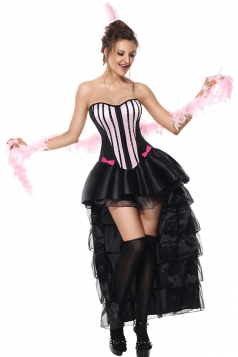 Womens Halloween Corset Dancing Dress Carnival Party Costume Black