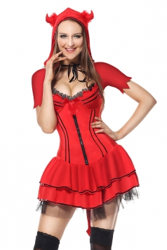Red Halloween Little Red Riding Hood Costume For Women