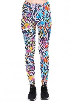 Color Spot Printed High Waist Sports Wear Leggings Multicolor