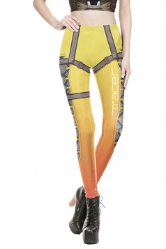 Overwatch Halloween Costume Leggings Yellow