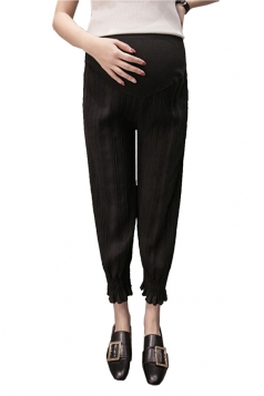 Loose Elastic Pants For Pregnant Women Black