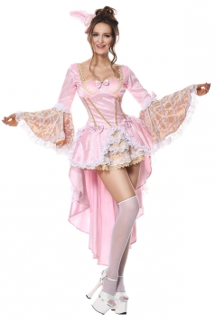 Halloween Costumes Sexy Marie Antoinette Baroque Fancy Dress Pink