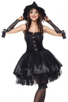 Womens Bad Witch Adult Halloween Costume Black
