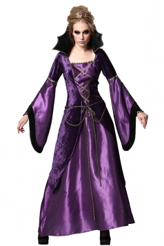 Womens Halloween Evil Queen Womens Costume Purple
