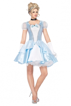 Womens Halloween Costume Alice In Wonderland Princess Dress Blue