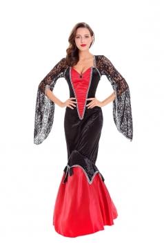 Womens Deluxe Vampire Halloween Costume Black