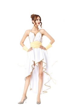 Womens Elegant Greek Goddess Cleopatra Halloween Costume White