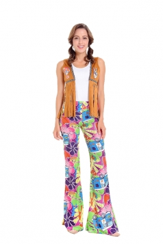 Womens Vintage Adult Indian Tribe Halloween Costume Multicolour