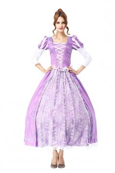 Womens Adult Petticoat Royal Princess Sofia Halloween Costume Purple