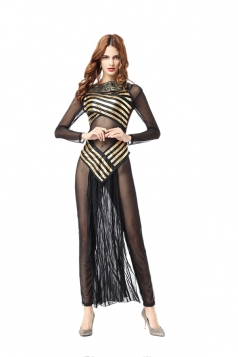 Womens Sexy Greek Goddess Cleopatra Fancy Halloween Costume Black