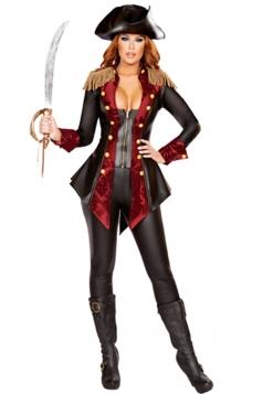 Womens Sexy Halloween Caribbean Pirate Costume Black
