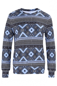Womens Crew Neck Snowflake Reindeer Ugly Christmas Sweatshirt Gray