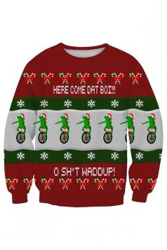 Womens Snowflake Santa Hat Printed Christmas Sweatshirt Multicolour