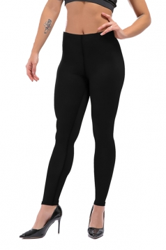 Womens Sexy Skinny Ankle Length Plain High Waisted Leggings Black