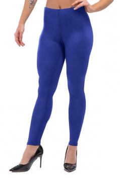 Womens Skinny Ankle Length Plain High Waisted Leggings Sapphire Blue