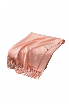 Womens Trendy Warm Shawl Fringe Plain Scarf Light Pink