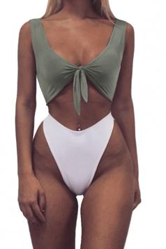 Womens Sexy Bandeau Tup%High Waist Swimwear Bottom Bikini Multicolour
