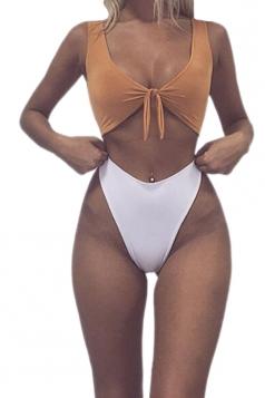Womens Sexy Bandeau Tup%High Waist Swimwear Bottom Bikini White