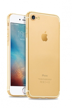Gold Ultra Thin Silicone Durable Transparent Case for iPhone