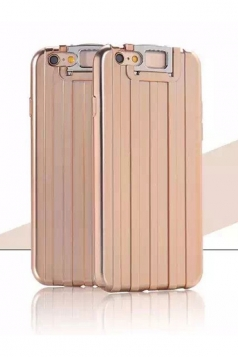 Gold Distinctive Durable with Kickstand Suitcase Soft Case for iPhone