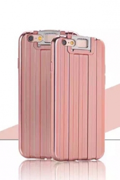 Rose Gold Distinctive Durable with Kickstand Suitcase Case for iPhone