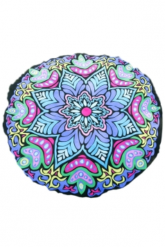 Vintage Yoga Mat Chiffon Snowflake Beach Towel Blanket Blue 59x59in