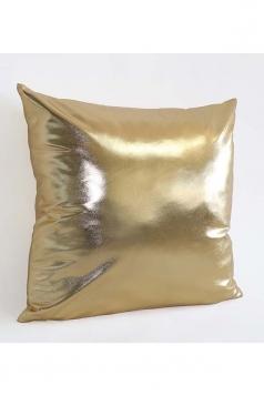 Stylish Homey Liquid Plain Throw Pillow Cover Gold 18x18in