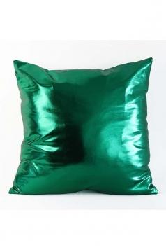 Stylish Homey Liquid Plain Throw Pillow Cover Green 18x18in