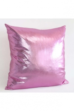 Stylish Homey Liquid Plain Throw Pillow Cover Pink 18x18in