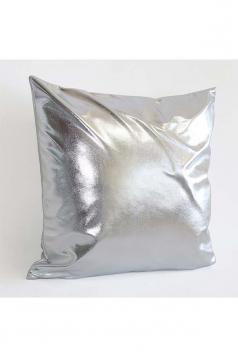 Stylish Homey Liquid Plain Throw Pillow Cover Silver 18x18in