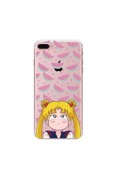 Yellow Trendy Sailor Moon Soft Transparent TPU Case for iPhone
