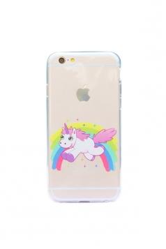 Cute Cartoon Rainbow Unicorn Soft Transparent Case for iPhone