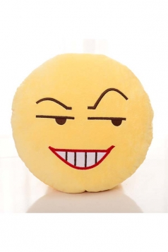 Lovely Emoji Sly Expression Round Cute Throw Pillow 12.6x12.6x5.2in