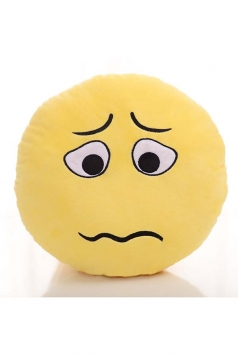 Emoji Grimace Face Sofa Decoration Soft Throw Pillow 12.6x12.6x5.2in