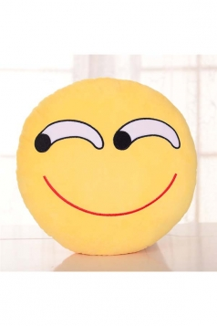 Emoji Smirk Expression Bed Decorations Throw Pillow 12.6x12.6x5.2in