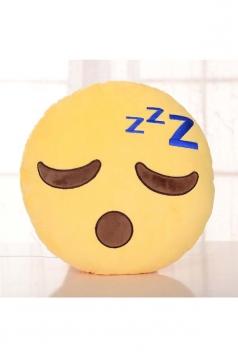 Emoji Sleepy Expression Sofa Decoration Throw Pillow 12.6x12.6x5.2in