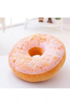 Cute Home Decor Soft Office Cushion Plush Donut Pillow White 16x16x8in