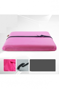 Homelike Anti-Slip Removable Cover Memory Foam Seat Cushion Rose Red