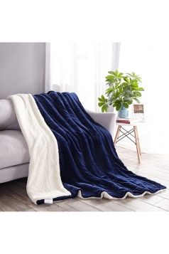 Sofa Nap Blanket Two Sides Different Colors Throw Blanket Blue
