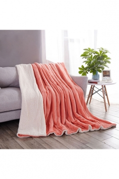 Sofa Nap Blanket Two Sides Different Colors Throw Blanket Green